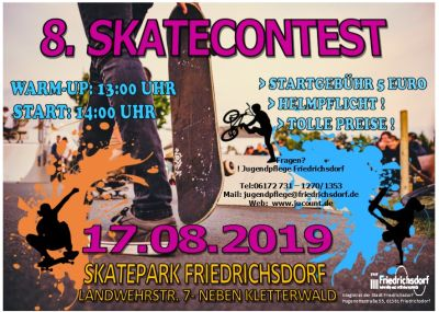 8. Skatecontest am 17.08.2019