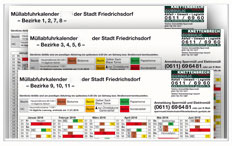 Abfuhrbezirke & Download Müllkalender 2019